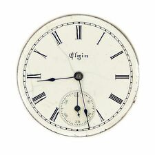 Vintage Elgin National Pocket Watch Safety Pinion Movement 4865415 White 29mm
