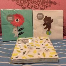 Korea LINE Friends Brown Cony Kitchen Tissue Set of 3 Packs Mascot Gift
