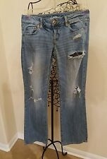 American Eagle Outfitters Stretch Women's Boyfriend Distressed Jeans Reg Size 4