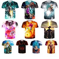 New Men Women Dragon Ball Z Goku Vegeta Super Saiyan Print Casual 3D T-Shirt Tee