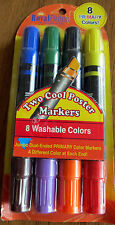Royal Brites 8 Primary Color Markers 4-Pack Craft Duel-Ended Pens Factory Sealed