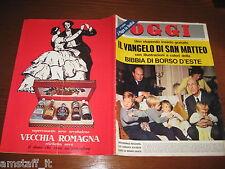 RIVISTA OGGI 1964/51=ANTONIO SEGNI=BOBBY SOLO=ROMY SCHNEIDER=BRITT EKLUND=