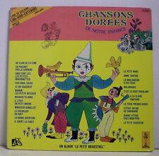 """33 tours Livre CHANSONS DOREES Disque LP 12"""" PETITS CHANTEURS de VINCENNES Clown"""