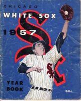 1957 Chicago White Sox Baseball Yearbook, magazine, Luis Aparicio, Nellie Fox