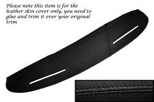 BLACK STITCHING TOP DASH DASHBOARD LEATHER SKIN COVER FITS MG MGB GT
