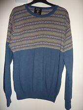 Burton Menswear London blue patterned jumper. Size Large