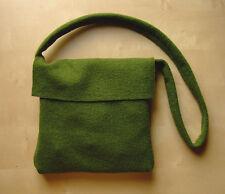 Damen Herren Mittelalter Reenacment LARP Tasche Umhängetasche mit Klappe grün