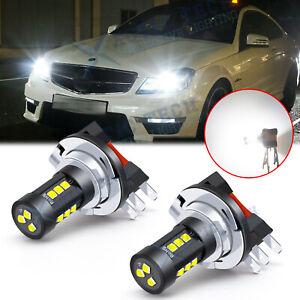 6000K White H15 LED High Beam DRL Lights Bulbs for Mercedes Benz GLA/GLK, Audi