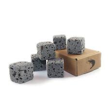 6 Eco Bricks - Water Clarifying Aquarium Decor Stones - 100% Natural Lava Rock