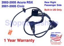 New ABS Wheel Speed Sensor for 01-05 Honda Civic Acura RSX REAR RIGHT Passenger