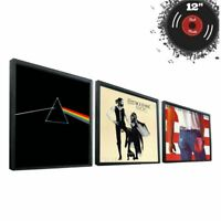 "12"" Vinyl Record Frame Wall Album Art Display Frame for LP Cover Sleeve Black"