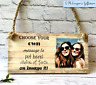 PERSONALISED ANY PHOTO ANY TEXT PLAQUE SIGN BEST FRIEND SISTER MOTHER'S DAY GIFT