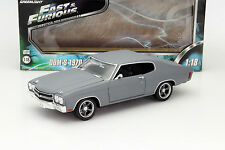 Dom's Chevrolet Chevelle SS Film Fast and Furious IV 2009 grau 1:18 Greenlight