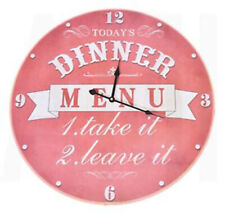 Extra Large 58cm Wooden Dinner Menu Wall Clock Home Decor Bedroom Shabby Chic