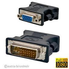 """Adapter DVI-I Stecker auf VGA - Buchse vergoldet"