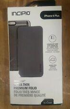 Incipio Highland Case Wallet Folio Case Apple iPhone 6s Plus Gunmetal Gray NEW