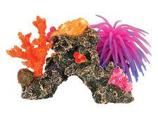 Arrecife de coral con silicona de anémonas Ornamento de acuario peces tanque decoración