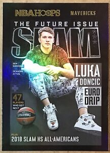 2020-21 NBA HOOPS LUKA DONCIC #5 SLAM COVER INSERT HOLO GOLD SSP MAVERICKS