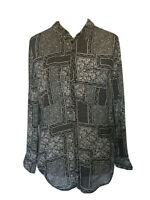 Twiggy for M&S Black & White Floral Ditsy Size 12 Blouse Shirt BNWT RRP £39.50