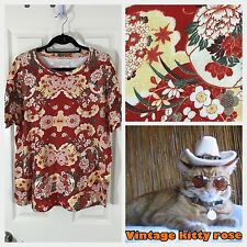 Eleven Paris Asian Japanese Floral Blossoms Tattoo Flower Red T Shirt Mens Large