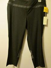 $68 Tangerine Black Capri 3/4 Pants Activewear Yoga Running Stretch Size M NWT