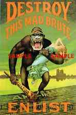 "WWII - Destroy this Mad Brute ( 11"" x 17"" )  11"" x 17"" Collector's Poster Print"