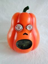 "Animated Pumpkin Figurine 6"" Lights Up Screaming Jack O Lantern Halloween"