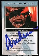 BABYLON 5 CCG Card Andreas Katsulas (1946-2006) Permanent Wound AUTOGRAPHED