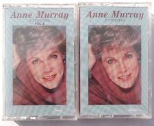 2 Vtg SEALED Anne Murray (FAVORITES, FAVORITES VOL. 2) Cassette US 1988