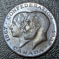 OLD CANADIAN CONFEDERATION MEDAL - Victoria & George V 1867-1927 - Nice