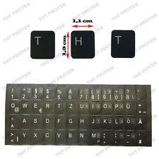 DEUTSCHE Tastaturaufkleber DEUTSCH - schwarz MATT 48 Tasten - für MSI Laptop