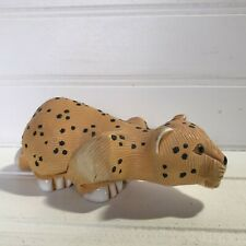 Artesania Rinconada Cheetah Wild Cat Figurine Retired Uruguay Art Pottery