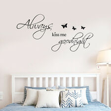 Kiss Me Removable Mural Wall Stickers Wall Decal Art Living Room Bedroom Decor