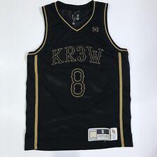 Kr3w Athletics Skateboarding Basketball Jersey Size Small Black Sewn Number 8