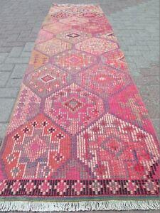 "Rug Runner, Vintage Turkish Hallway Kilim Runner, Carpet Runner Corridor 31""X106"