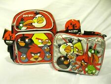 "ANGRY BIRDS 12"" BACKPACK AND MATCHING ANGRY BIRDS LUNCHBOX LUNCH BAG-NEW!"