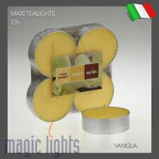 MAXI TEA LIGHTS CANDELE PROFUMATE MAXI TEALIGHTS LUNGA DURATA 4 PEZZI VANIGLIA