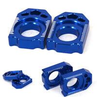Motorrad blau cnc hinterachse block für yamaha yz125 yz250 yz250x wr250f wr450f