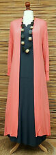 LAGENLOOK AMAZING BOHO SOFT LONG CARDIGAN/COAT*CORAL* SIZE M-L BUST 36-38""