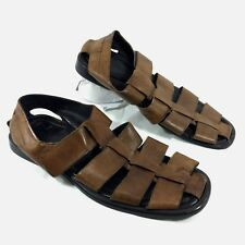 4170d89238d05 Men s To Boot New York Sandals Brown Leather Fisherman Sz 11 GUC