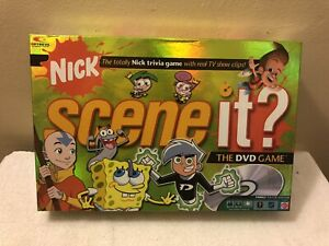 Scene It? Nickelodeon Trivia DVD Board Game (Mattel 2006 Edition) 100% Complete