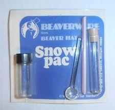 "Vintage Snuff Kit ""Snow Pac"", Acrylic Vials, Acrylic Spoon & Straw, BRAND NEW"
