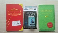 Harry Potter Quidditch Through The Ages, Fantastic Beasts BOTH TRUE FIRST EDs
