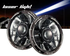 "7"" Laser Headlight LED Hi/Lo Dual Beam DRL M35a2 HHMMWV M998 JK JKU 12-24 volts"