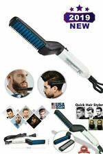 Alisador De Barba Rapido Estilo Peine Multifuncional Peine De Pelo Electrico NEW