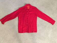 Red VTG Long Sleeve Button Down Rare 50's 60's Mod Original Cool RRL Mid Century