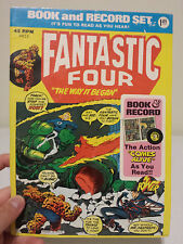 Fantastic Four Book and Record Set 1974 Marvel