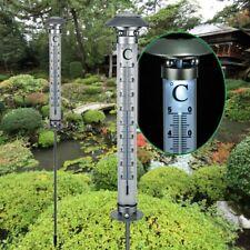XXL SOLAR GARTEN-THERMOMETER 112 cm beleuchtet LED Garten Außenthermometer