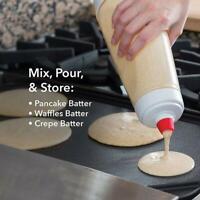 Hand Teig Dispenser Mixer Flasche Cupcake Pancake Crepe-Teig-Dispenser D2N4