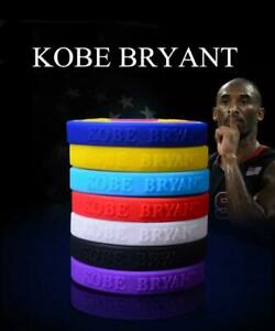 Kobe Bryant NBA Baller Band Bracelet Basketball Player Black Mamba BEST QUALITY